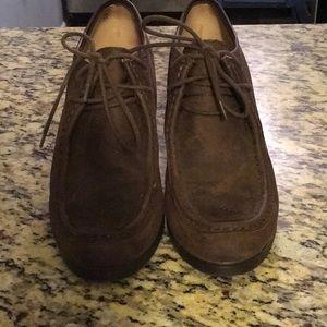 Ralph Lauren leather wedges